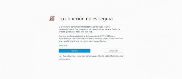 Corregir: Este sitio web no puede proporcionar una conexión segura