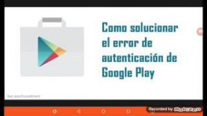 Error de autenticacion de Google Talk