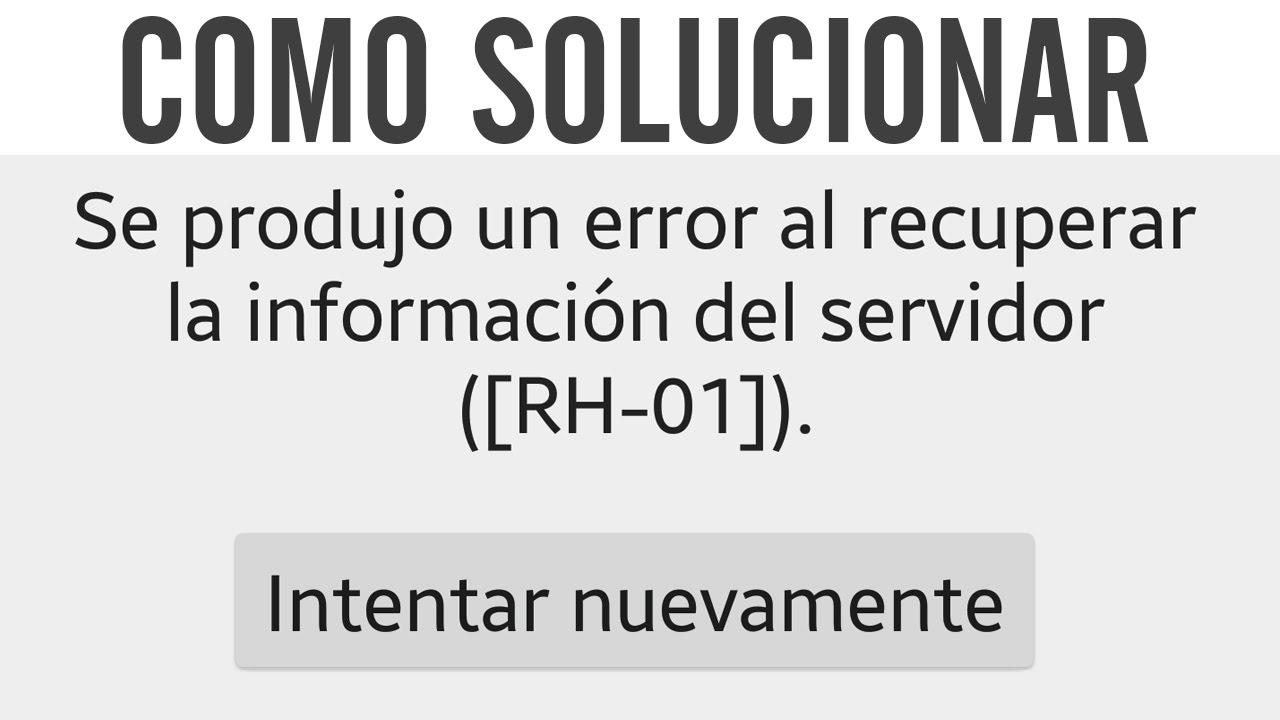 Como solucionar error RH-01