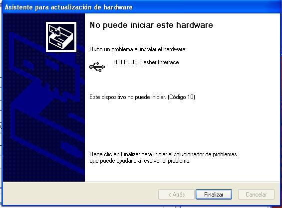Este dispositivo no puede iniciar. (Código 10)