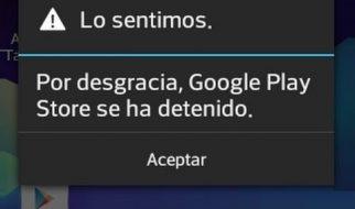 Google PlayStore se detuvo