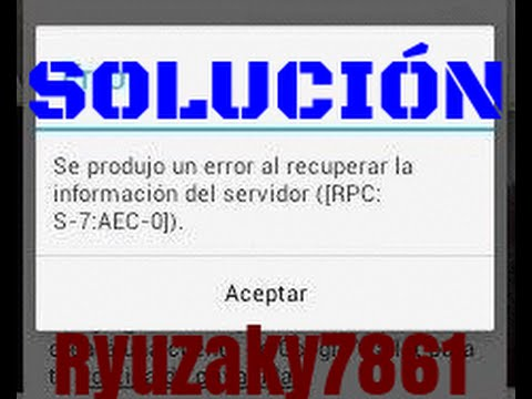 Se produjo un error al recuperar la información del servidor