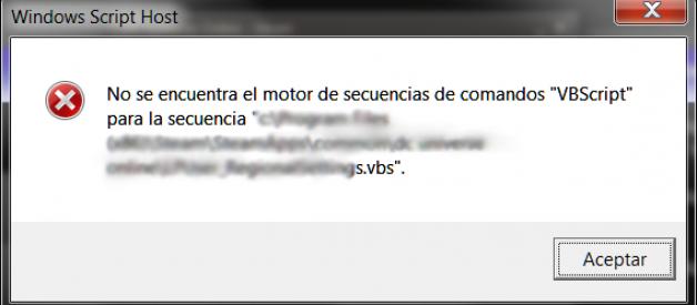Me sale error en el Windows Script Host cuando inicia mi PC